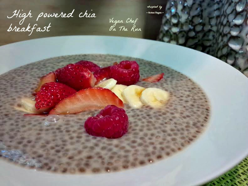 High powered chia breakfast.
